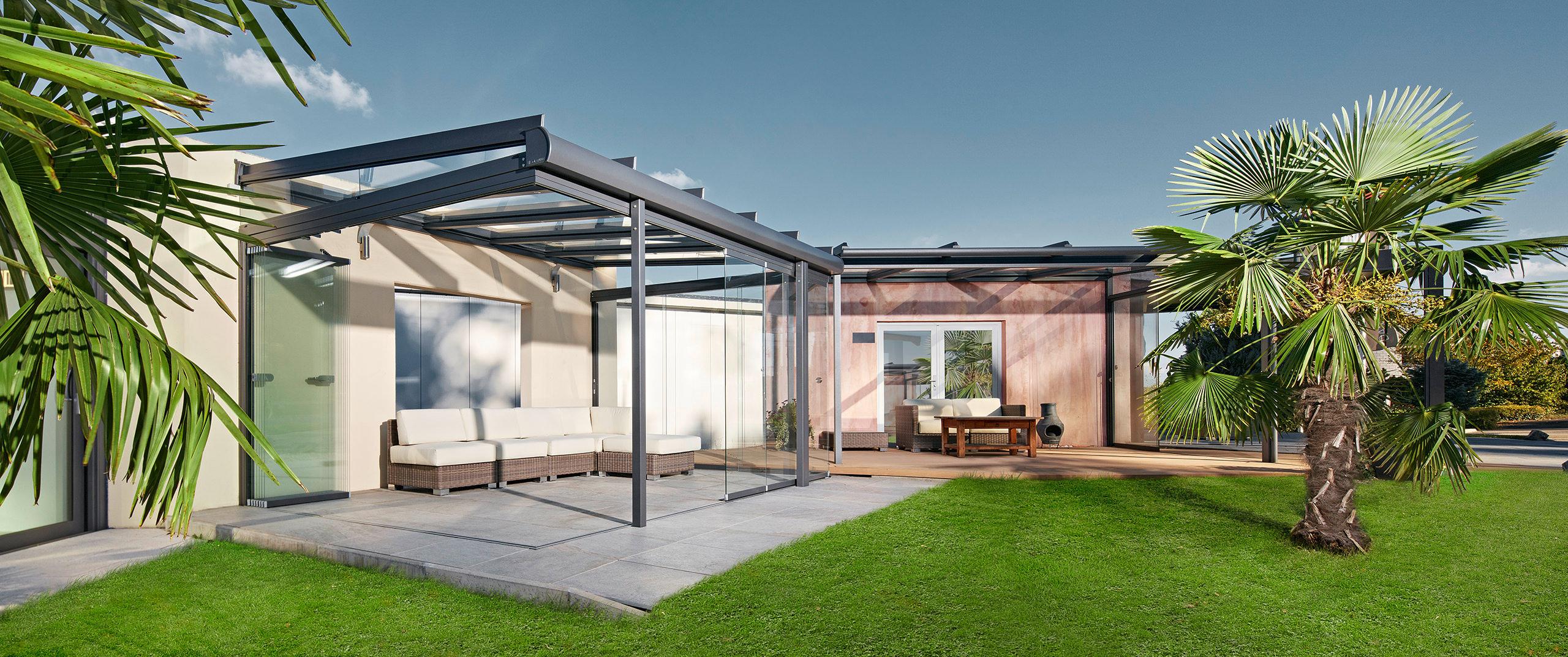 sitzplatz berdachung ein glasdach l sst sich perfekt an bestehende geb ude anbauen. Black Bedroom Furniture Sets. Home Design Ideas